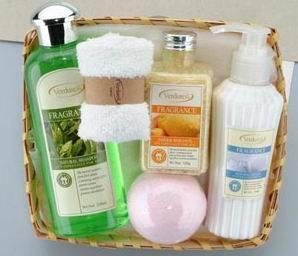 Aromatic Fragrance Hair, Skin, Body Care Set (YW005)-bath gel,bath salt