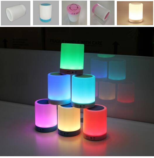 Factory wholesale price smart portable wireless bluetooth speaker with led color light