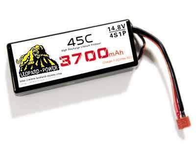 Leopard Power rc lipo battery for rc heli 3700mah-4S-45C