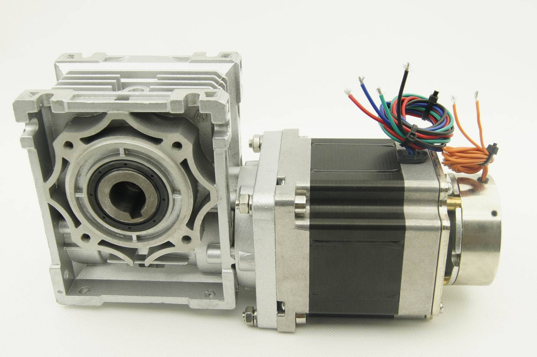 NEMA 34 Worm Geared stepper motor with brake