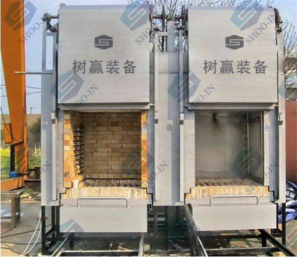 Cart-loaded resistance furnace