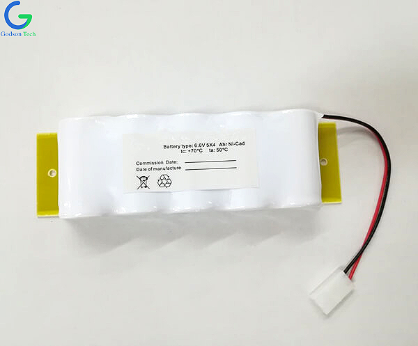 Rechargeable Emergency Light Battery Ni-Cd Battery Pack