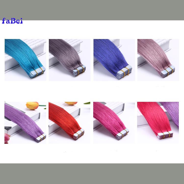 Beautiful Color Tape In Remy Human Hair Weaving Skin Weft Human Hair Extension