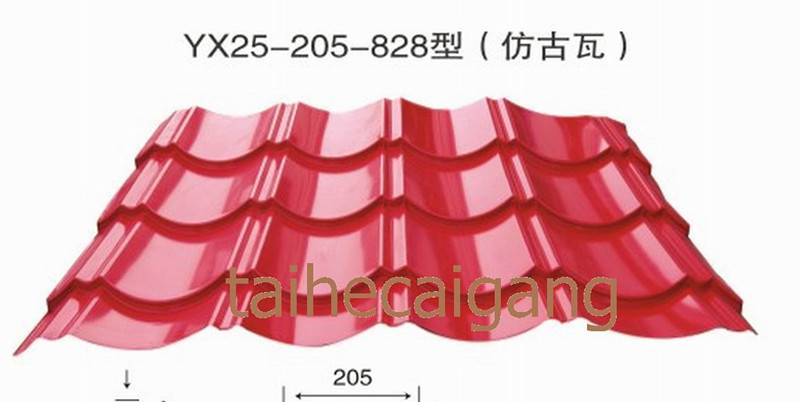 Corrugated Coated Steel Wall Panel