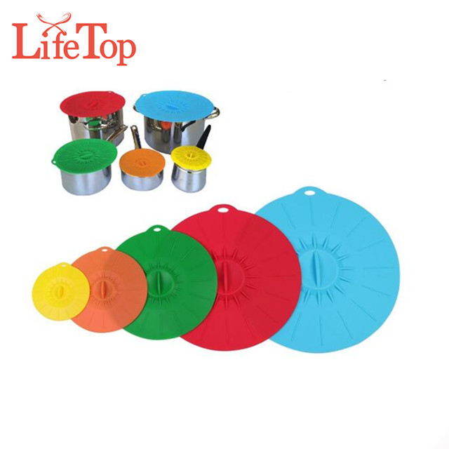 Food Grade Heat Resistant Silicone Suction Lid