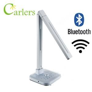Adjustable Beam Angle Smart LED Table Lamp with Integral Bluetooth Speaker