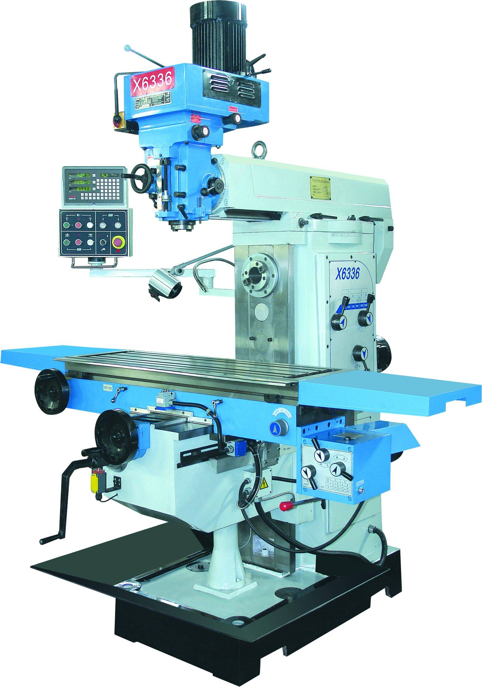 DRO at all axies universal milling machine