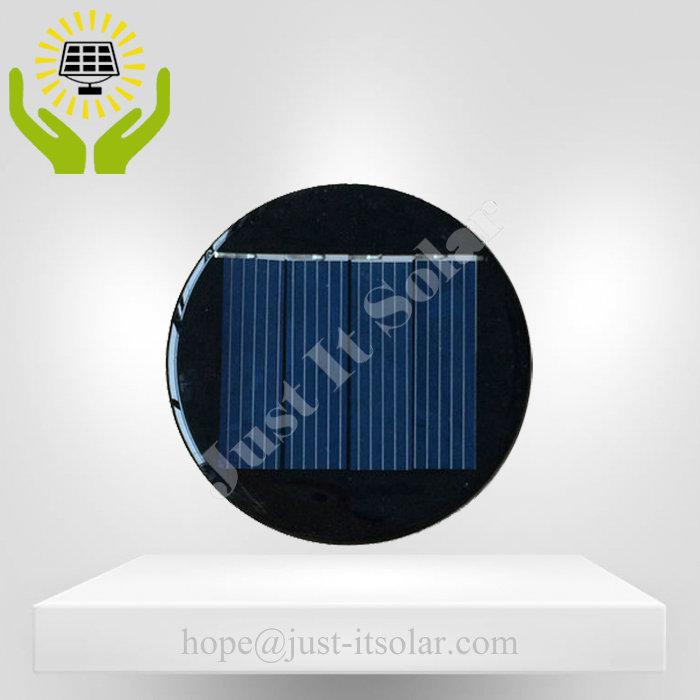2V 125mA 0.25W Epoxy Resin Round Solar Cell