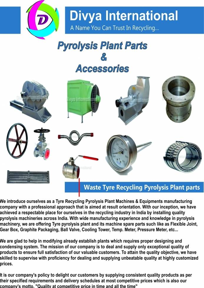 Pyrolysis Plant Equipments and Spare Parts