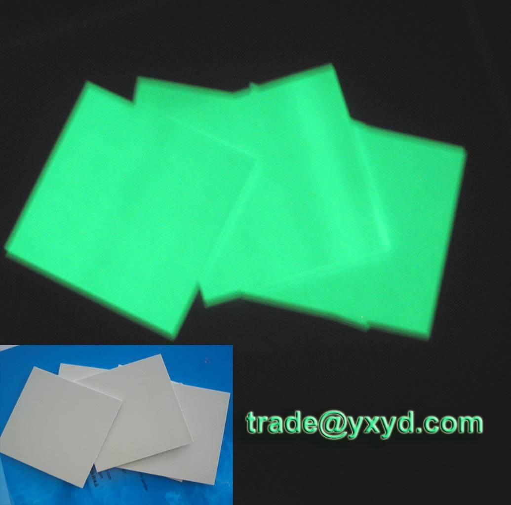 luminescent sheet /board . glow in the dark sheet ,glow board
