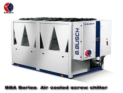 Cooling dedicated BUSCH air-cooled screw chiller for coating production line
