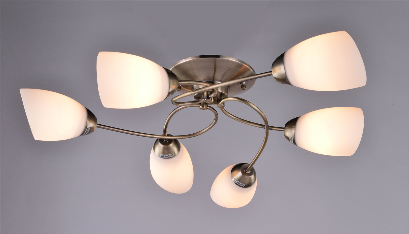 2017 hot sale Russia and Poland modern glass shade ceiling lamp
