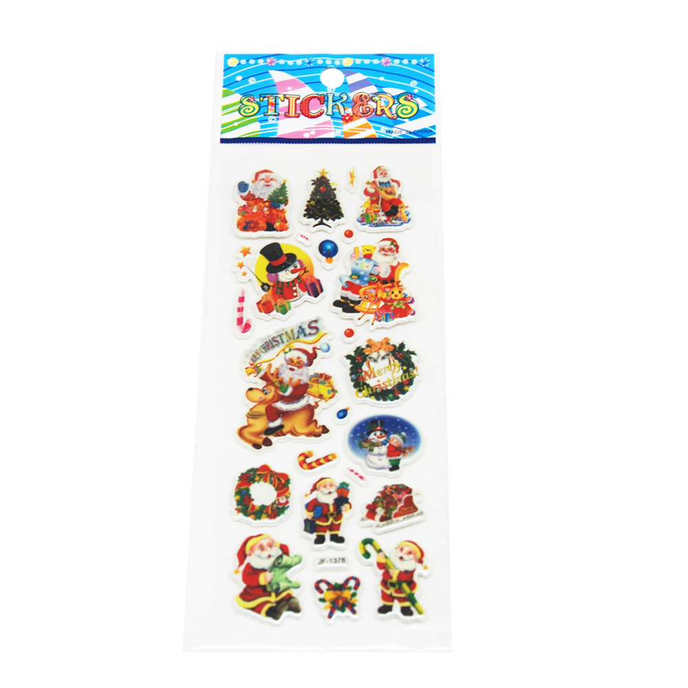 Puffy Sticker For Chirstmas Day