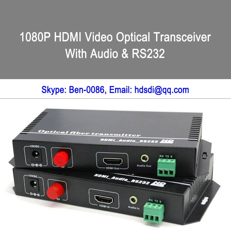HDMI and Audio to Fiber converter and extender