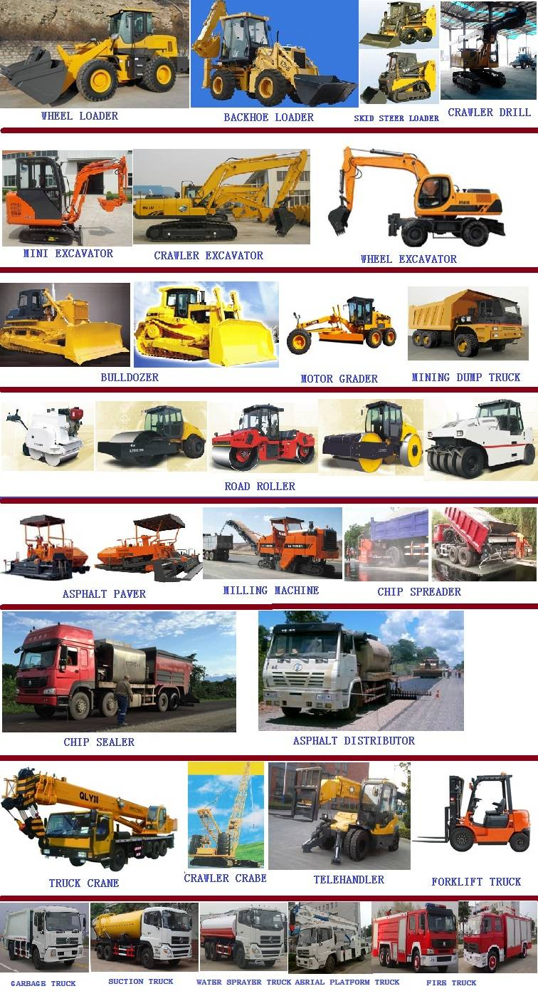 Sell construction machinery