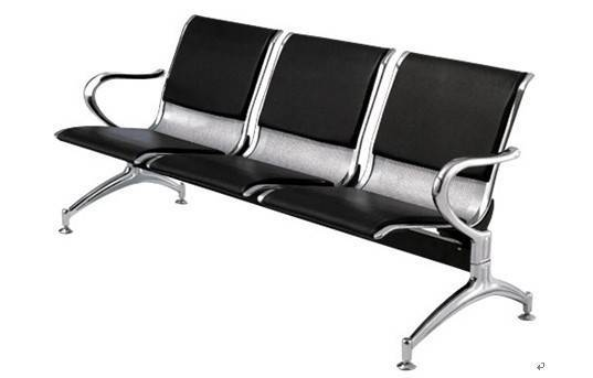 Leather airport chair