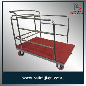 Steel Turnplate Trolley for Hotel Use