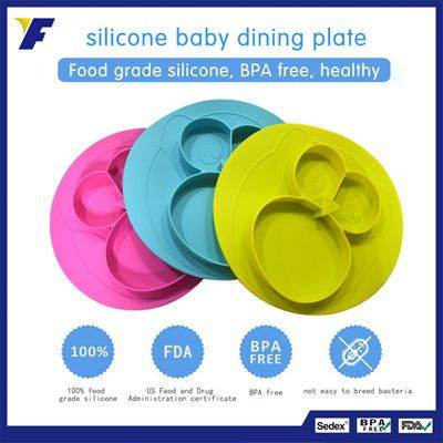 New Silicone Clear Plastic Placemat for Kids Placemat