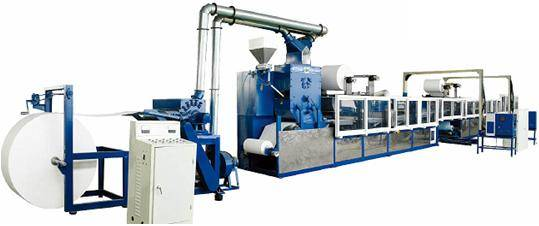 Under pad production line / Underpad making machine