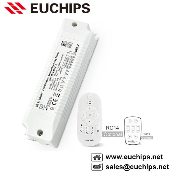 12W 180/240/300mA 2.4G wireless constant current led driver EUP12R-1WMC-0