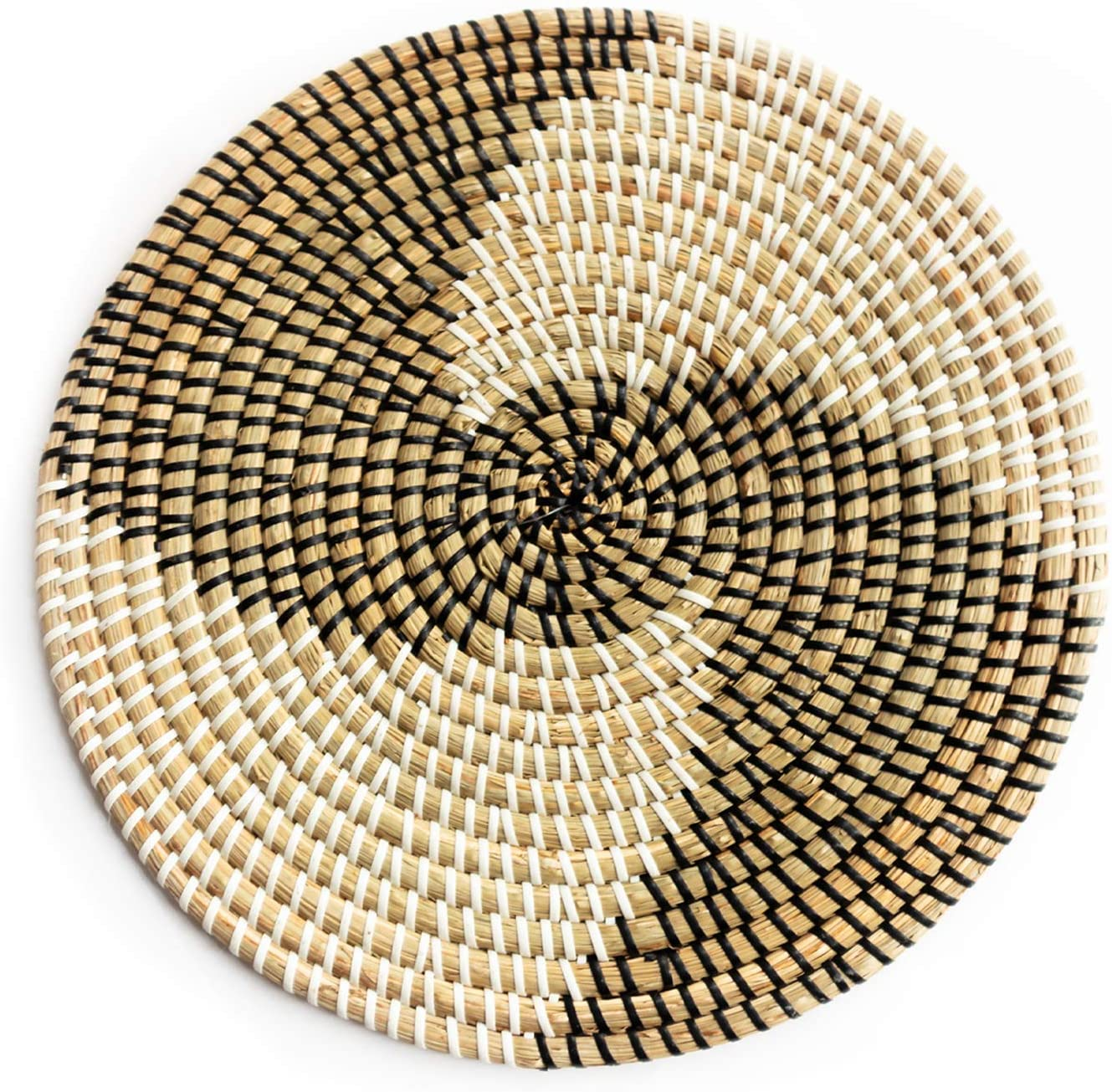 Decorative seagrass wall plate/wall basket hanging decoration
