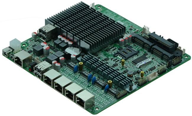 Cheap Intel J1900 Based MITX Fanless Firewall Motherboard for Network Security Application, 4Lan