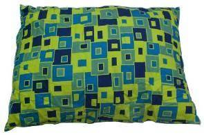 Colorful grid pet bed