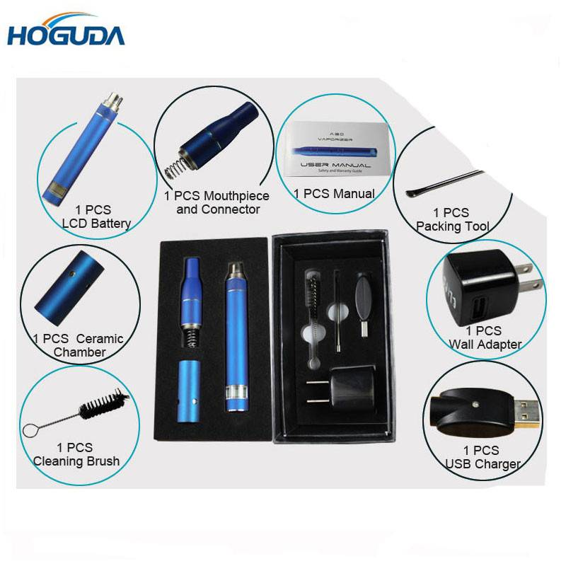 Newest Arrived Electronic Cigarette A-G-O with Dry Herb Vaporizer