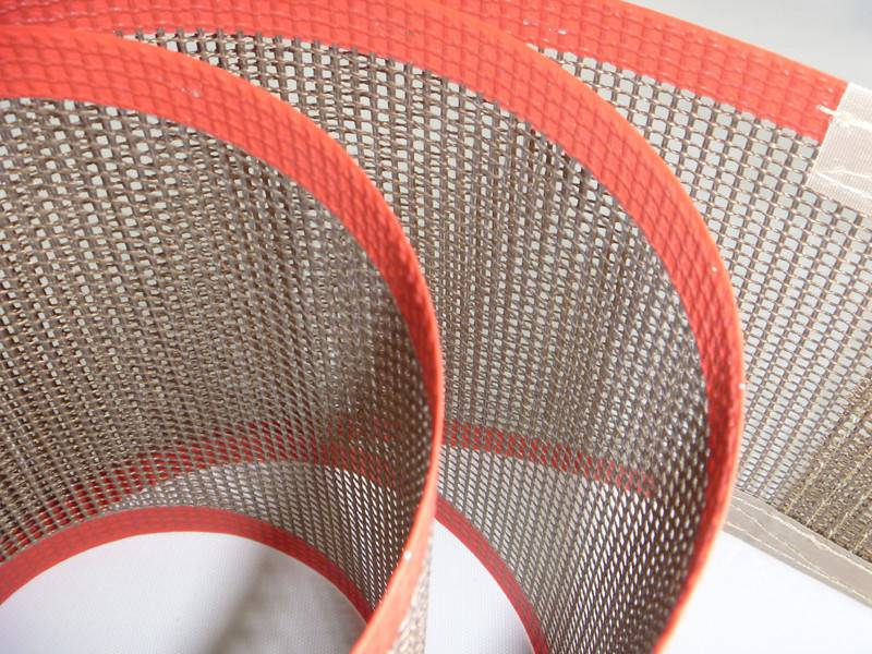Food Grade Heat Resistant PTFE Teflon Coated Fiberglass Mesh Conveyor Belt