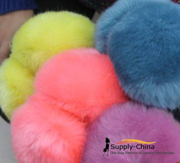 Imitation rabbit fur ear muffs