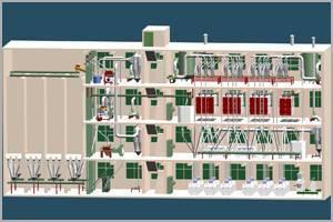150T Building structure Wheat Flour production line
