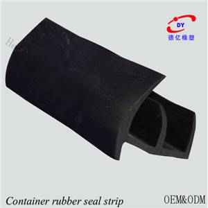 Container door rubber seal strip