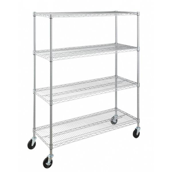 Selling wire shelf with castors