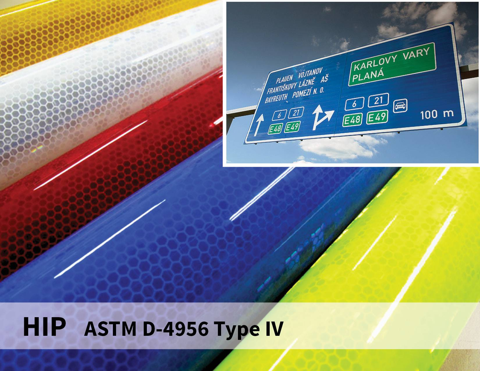 Reflective Signage Prismatic Sheeting for roadway safety reflective materials