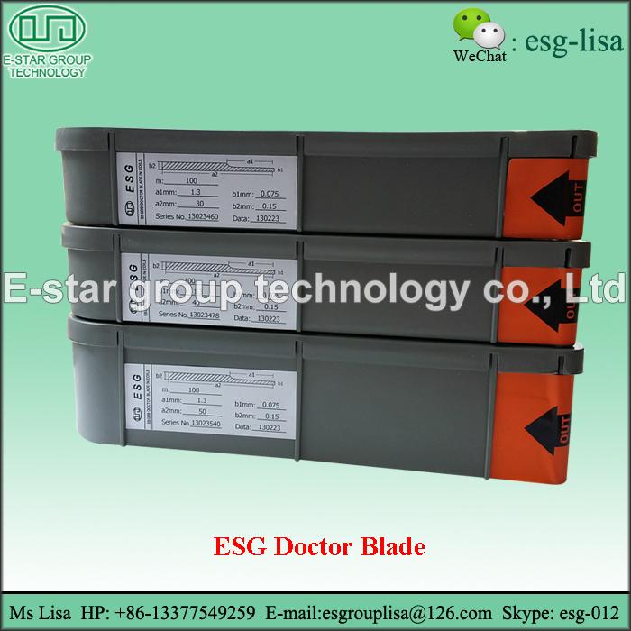 ESG Gravure Printing Chamber Doctor Blade
