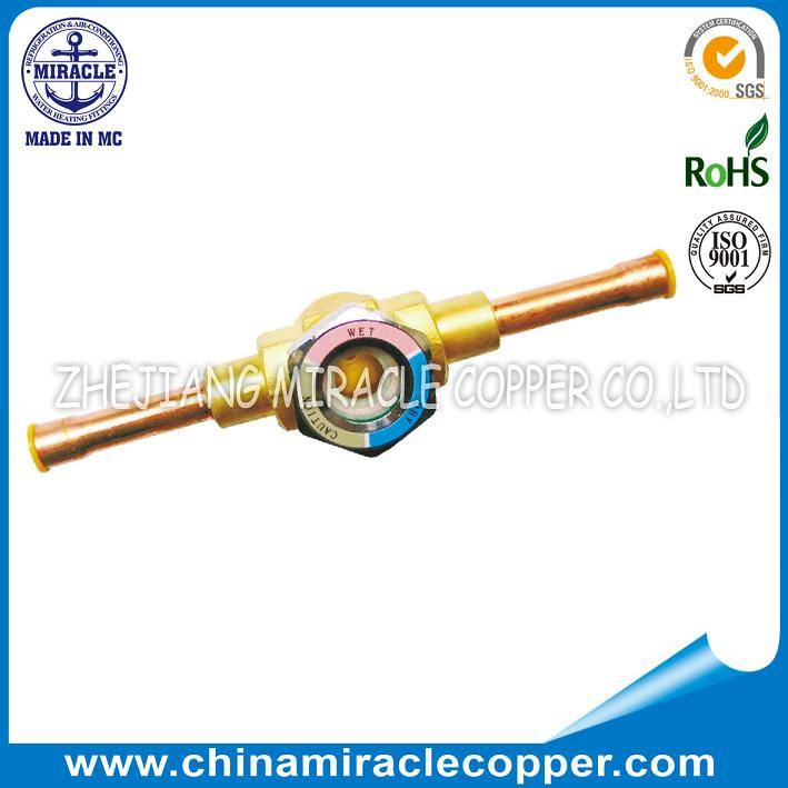 Refrigeration Parts Sight Glass Welding type with copper tube
