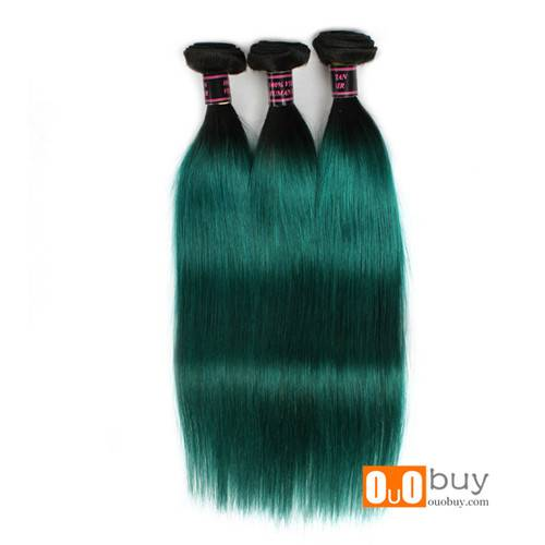 Selling Wholesale Price Green Color Virgin Straight Hair Remy Human Hair Peruvian Remy Hair