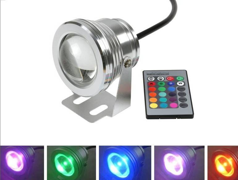 Waterproof IP68 12V 10W RGB LED Underwater Light