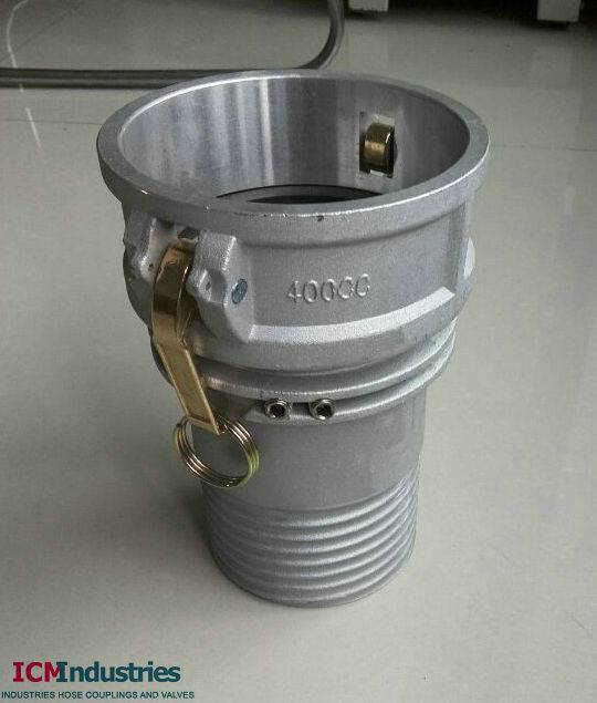 Scroll Composite hose camlock coupling with anti static holes