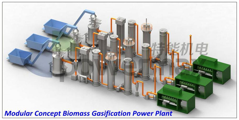 40KW biomass gasification generating system