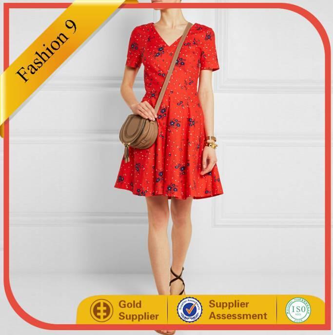 2015 New Designed Printed Women Summer mini dress