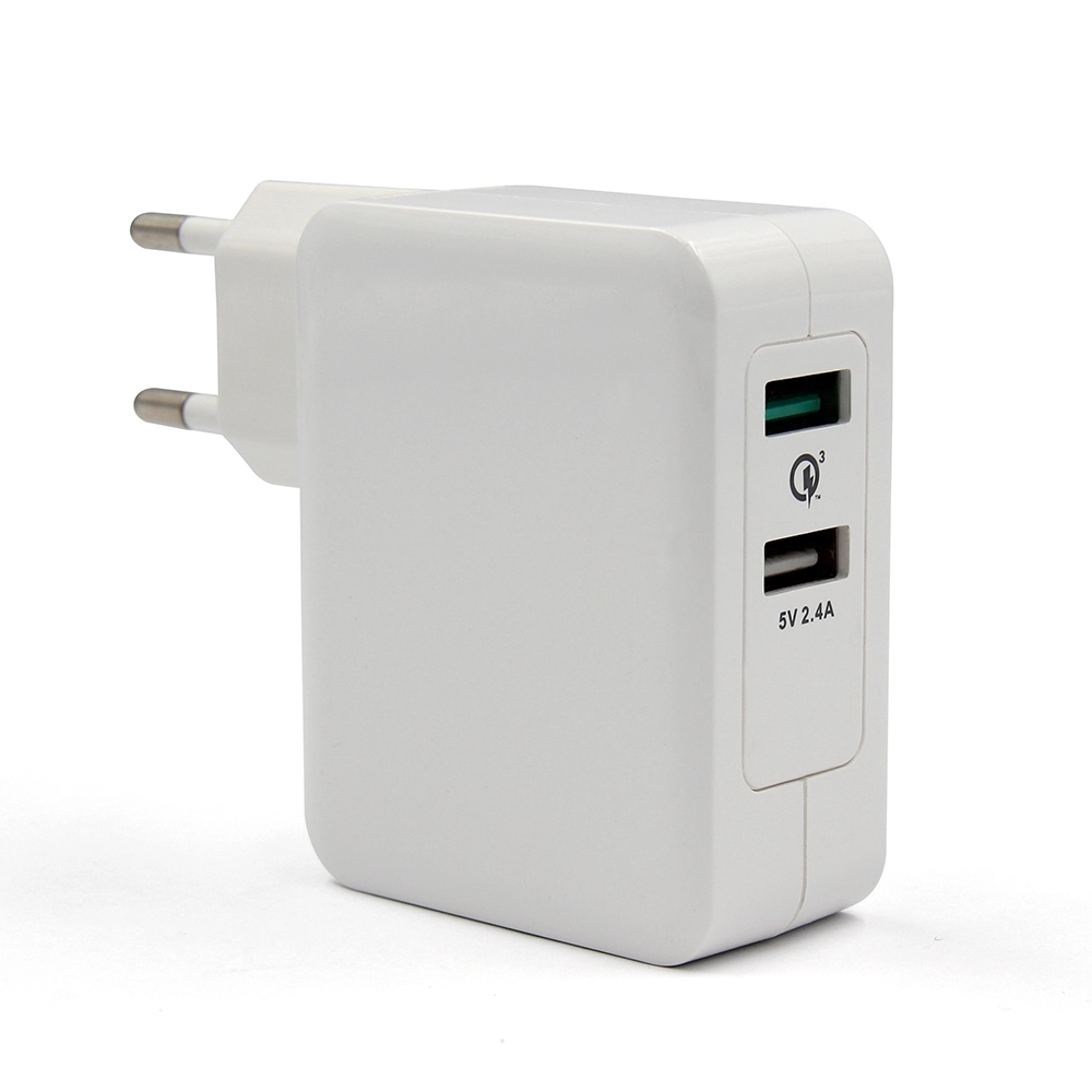 [Topsale]EU US UK Plug Available 30W 2.4A and Quick Charge 3.0 Wall Charger