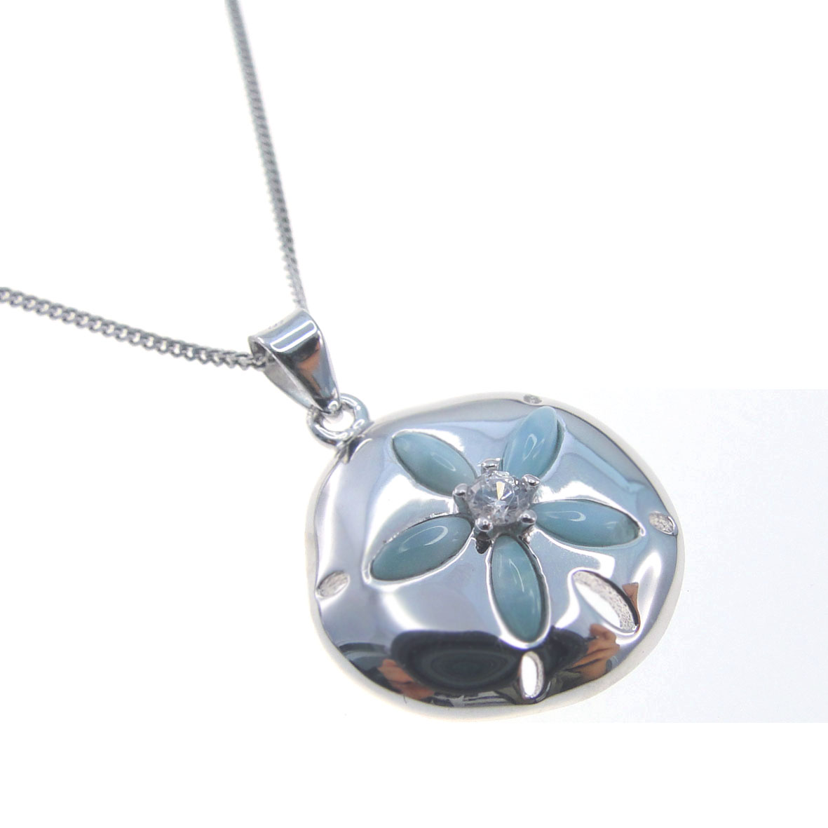 2017 New Designs 925 silver larimar necklace pendants wholesale