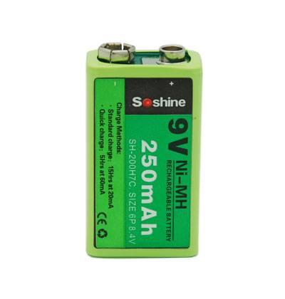 Soshine Ni-MH 9V-Block Rechargeable Battery