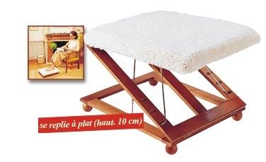 adjustable, foldalbe footrest/foot stool/leg rest