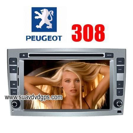Peugeot 308/408 factory OEM radio Car DVD Player RDS Bluetooth IPOD GPS navi CAV-8308PG