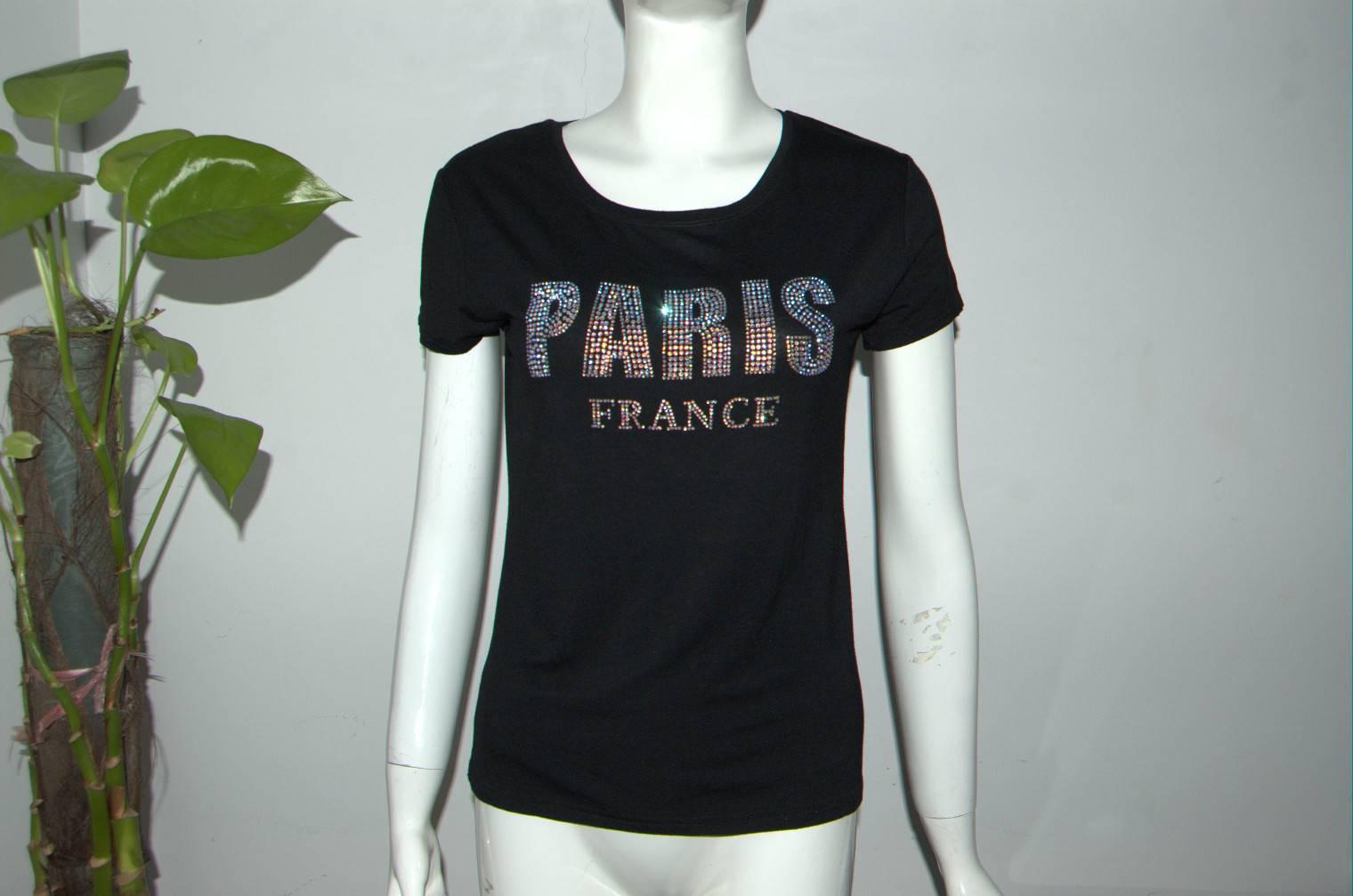 Black cat chest printed white colour girls tshirt womens tshirt ladies tshirt
