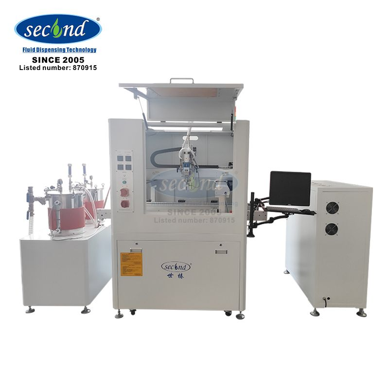 CE certificated Inline automatic two component doming epoxy potting machine