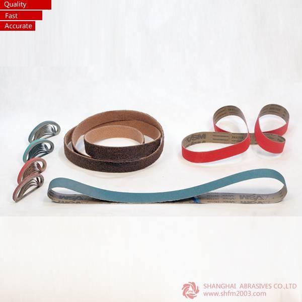 Vsm & 3m Aluminum Oxide Narrow Abrasive Belts