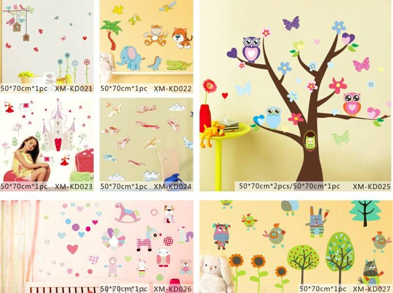Colorful Printed Home Decorative Kids Wall Sticker
